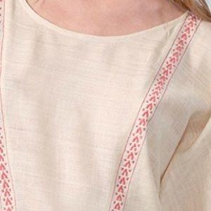 IRO Broukna Top Embroidered Kimono Sleeve Silk